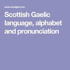 Scottish Gaelic language, alphabet and pronunciation