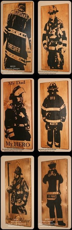 Bunker Gear Sign, Turnout Gear, Custom Wood Sign, Firefighter Sign, First… Firefighter Room, Firefighter Crafts, Firefighter Paramedic, Firefighter Pictures, Volunteer Firefighter, Firefighters Wife, Firemen, Custom Wood Signs, Wooden Signs