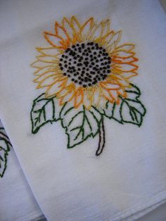 3in1 Sunflower Hand Embroidery Patterns By Luvsmeknot On Etsy 300