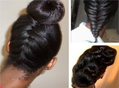 Protective Hairstyle Ideas For Long Relaxed Hair Or Flat Ironed Natural Hair http://www.blackhairinformation.com/general-articles/hairstyles-general-articles/protective-hairstyle-ideas-long-relaxed-hair-flat-ironed-natural-hair/