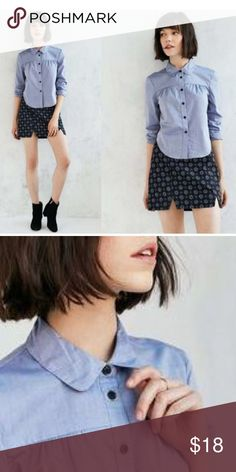 Darling Ferrielle Button Shirt by Alice & UO 🌹Darling button down shirt by Alice Ritter's exclusive Urban Outfitters collection! Clean, essential & stylish chic look to complete your casual or professional outfit💖💖Slim fit with curved hem and pointed collar. Material: Cotton Urban Outfitters Tops Blouses