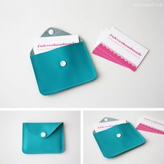 5 things to do with KAMSnaps - DIY: Faux leather business card holder