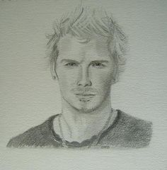 Becks of course when he was much younger! I sketched this some years ago now and still like those smoldering eyes!