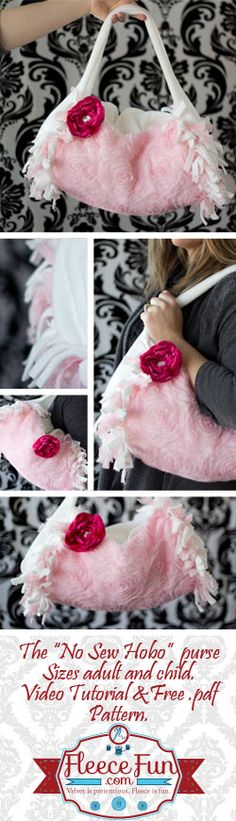 You can make this cute purse without sewing a single stitch!  Free pattern and video tutorial!