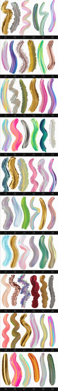 wet paint adobe photoshop brushes - paint in amazing, multi-colored brush strokes, metallic brush strokes (gold, silver, copper, rose gold), & iridescent brush strokes create feminine designs, digital illustration, invitations, designs, blog graphics feminine branding, branding, printables, stationery, hand painted typography, patterns, surface pattern design, and more! wet paint effects, wet brush technology, better than procreate & ipad with apple pencil! https://crmrkt.com/RQbe9x