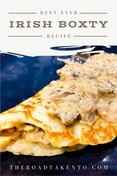 Enjoy the rich taste of Ireland's traditional potato pancake known as the Boxty. This recipe is inspired by Bricin Restaurant located in downtown Killarney, Ireland. Wine Recipes, Cooking Recipes, Irish Food Recipes, Irish Desserts, Entree Recipes, Potato Recipes, Polenta, Irish Dinner, Scottish Recipes