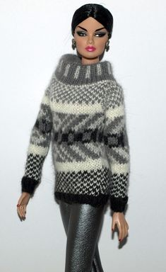 """Ships to WORLDWIDE *KAREN Exclusive* pullover for 12"""" Fashion Royalty FR2 - 14 