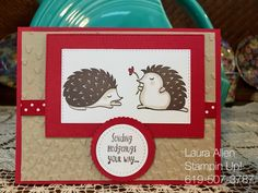 Hedgehugs stamp set from the 2018 Occasions catalog from Stampin Up!