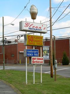 The old sign for Glenn's Tastee Freeze - Best Food Ever!!!