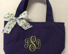Monogrammed Insulated Lunch Bag - Edit Listing - Etsy