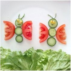 5 Creative And Easy DIY Food Decoration Ideas (food art) Food Crafts, Diy Food, Kids Crafts, Toddler Meals, Kids Meals, Cute Food, Good Food, Funny Food, Kreative Snacks