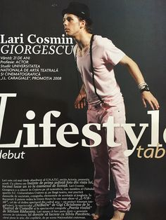 Lari Georgescu featured in Tabu magazine, August 2008 issue.