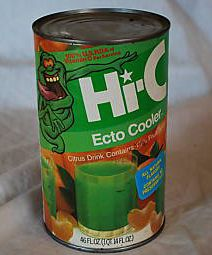 Ecto-Cooler, the very best Hi-C flavor ever. I used to get one of these big cans every weekend to drink while I played that weekends NES game rental. That and a pack of snacks from Little Giants awesome and insane snack section.
