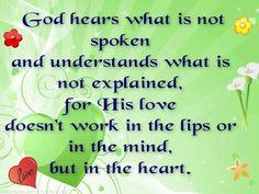 God Hears Your Prayer - Feel Gods love - www.gods-love-net.com