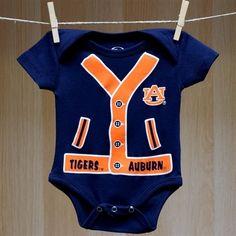 Auburn Baby One Half Player Onesie