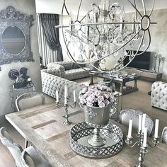 m living room ideas in 2019 элитные дома, дизайн дома, уютн Black And Silver Living Room, Living Room Grey, Living Room Decor, Dining Room, Living Room Designs, Living Spaces, Deco Table, Decor Interior Design, Cheap Home Decor