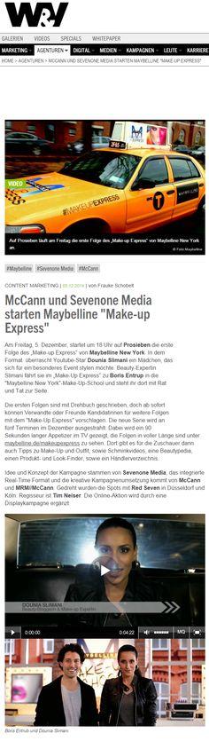 """Maybelline startet """"Make-Up Express"""" #mrm_de #mccann_de"""