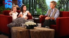 Ellen, Sophia Grace and Rosie