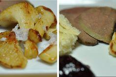 Rehleber mit gebratenen Mairitterlingen, Rosmarin-Olivenöl-Brot und Aroniagelee