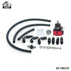 Hubsports - Racing Car Universal Adjustable Fuel Pressure Regulator KIT + Gauge + AN6 Fitting For TOYOTA MR2 SW20 90-95 HU-7MGTE #Affiliate