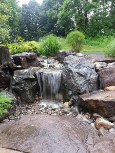waterfall is undoubtedly the most beautiful feature in a water garden. If space is lacking in your yard Consider a Disappearing Pondless Waterfall! Outdoor Water Features, Water Features In The Garden, Backyard Water Feature, Ponds Backyard, Backyard Waterfalls, Garden Ponds, Koi Ponds, Backyard Ideas, Pond Landscaping