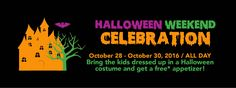 Come join us for our Halloween Weekend Celebration!