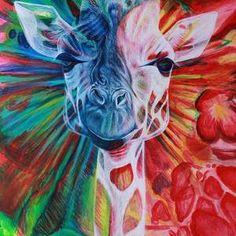 Twiga by Tanya R Unger Giraffe Art, Giraffes, Animal Paintings, Acrylic Paintings, Framed Prints, Canvas Prints, Animals Images, Art Images, Painting & Drawing