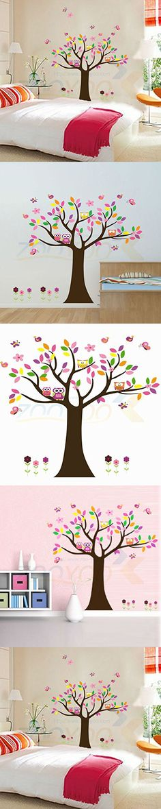 FunnyPicker Beautiful Colorfull Tree For Home Decor Wall Decal Decorative Adesivo De Parede Removable Pvc Wall Sticker