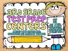 3rd Grade Math Test Prep Centers {CCSS Operations and Algebraic Thinking} - a center for each standard in this domain. A fun way to review multiplication and division concepts as you get ready for state testing! $