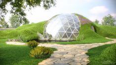 Geo dome built in with nature