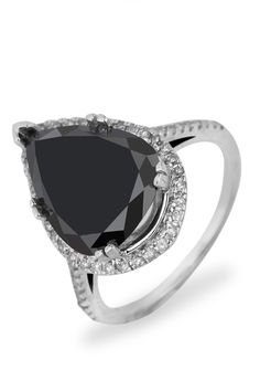 Bijoux Majesty Sizeable 4.90 ct Diamond Cocktail Ring In 14k White Gold