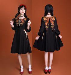 【-Isabella's Butterfly-】Lolita Dress Kawaii Fashion, Lolita Fashion, Cute Fashion, Japanese Fashion, Asian Fashion, Poses, Lolita Mode, Lolita Cosplay, Character Outfits