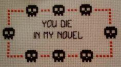 obnoxious cross stitch or funny DIY gift