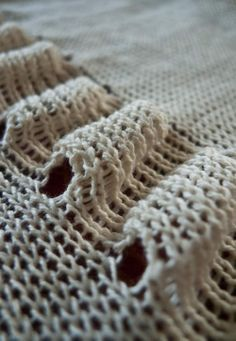 Easy to make on a knitting machine with short rows.