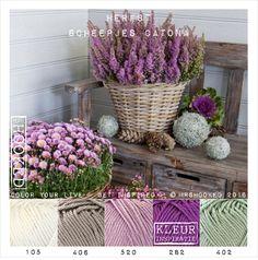 Heide Scheme Color, Colour Pallette, Colour Schemes, Yarn Color Combinations, Color Style, Paint Color Palettes, Yarn Inspiration, Color Balance, Colorful Garden