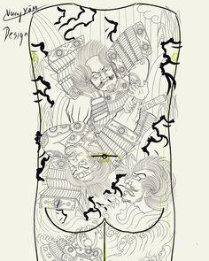 Full Back Tattoos, Japanese Tattoo Art, Japan Tattoo, Irezumi, Japan Fashion, Oriental, Stylists, Samurai Tattoo, Artwork