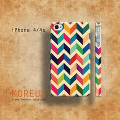 Colorful Chavron Geometric iPhone 5 Case iPhone 4s Case by MOREUS