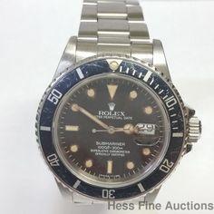 Scarce 168000 Rolex Submariner Tropical Dial Mens Steel Watch Genuine #Rolex #Sport