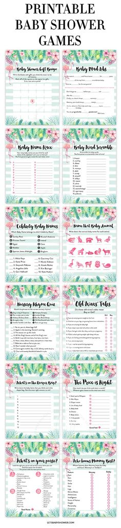 Looking for a Baby Shower theme for Girls? Here's one of the baby shower ideas your guests will surely enjoy. Tropical Flamingo Baby Shower Games for Girls