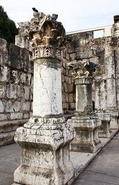 """La sinagoga """"blanca"""" de  Cafarnaum. Siglo IV."""
