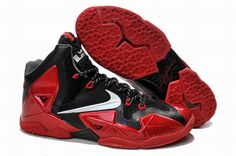 reputable site 85b7f e7ba6 Miami Heat Away Nike Lebron 11 PS Shoes Metallic Red Black Silver Grey  616175 012 Authentic