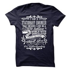 I Am A Stationary Engineer T-Shirts, Hoodies. VIEW DETAIL ==► https://www.sunfrog.com/LifeStyle/I-Am-A-Stationary-Engineer-51905155-Guys.html?41382