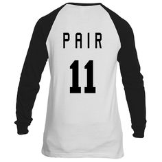 Unisex Perfect Pair 11 Baseball Shirt