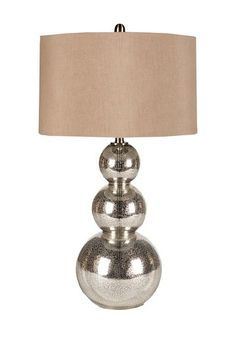 Silver Mercury Glass Lamp.