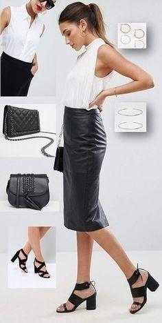 Pencil Skirt /& Earrings