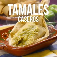 +Use banana leaves for moist tamales instead of corn. Mexican Dishes, Mexican Food Recipes, Mexican Drinks, Tamale Recipe, Mexico Food, Good Food, Yummy Food, Think Food, Comida Latina