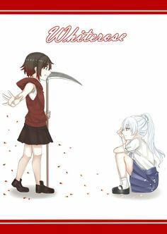 """禁電君 All of Team RWBY ships """" If I meet you in my childhood."""" and Ruby and Yang are completed! Rwby Anime, Rwby Fanart, Rwby Songs, Rwby White Rose, Rwby Weiss, Rwby Blake, Rwby Characters, Team Rwby, Tsundere"""
