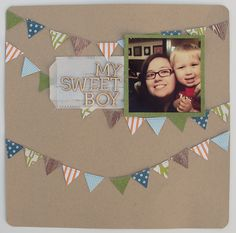 Inspired Jules: My Sweet Boy | Scrapbook Layout   #Scrapbook #Scrapbooking