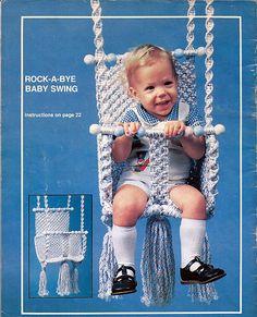 Macrame a Lullabye    Macrame  Pattern Book  Plaid 7401. $10.00, via Etsy.