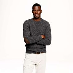 J.Crew Wallace & Barnes Donegal wool sweater   mens sweater   wantering   grey   menswear   mens style   mens fashion